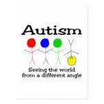 Autismo que ve el mundo de un diverso ángulo postales