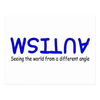 Autismo que ve el mundo de un diverso ángulo tarjetas postales