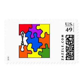 Autismo (rompecabezas) sellos