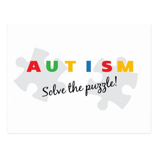¡Autismo - solucione el rompecabezas! Postal