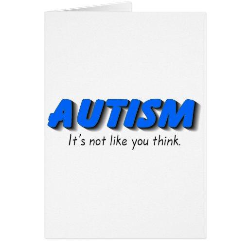 Autismo su no gusto que usted piensa (el azul) felicitaciones