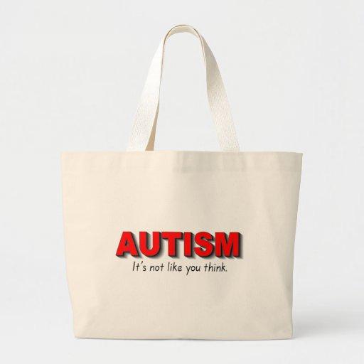 Autismo su no gusto que usted piensa (el rojo) bolsa
