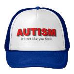 Autismo su no gusto que usted piensa (el rojo) gorra