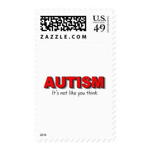 Autismo su no gusto que usted piensa (el rojo) sellos