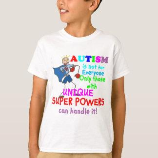 Autismo único de los superpoderes playera