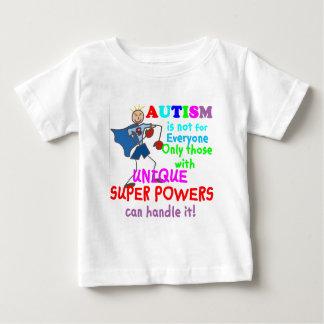 Autismo único de los superpoderes playera para bebé