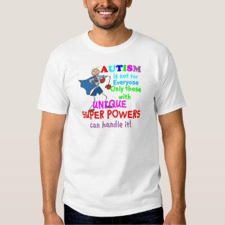 Autismo único de los superpoderes poleras