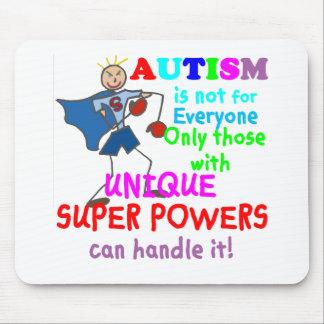 Autismo único de los superpoderes alfombrilla de raton