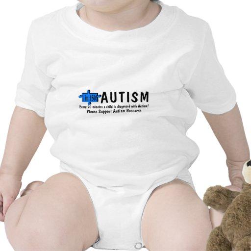 Autismo uno cada 20 minutos camisetas