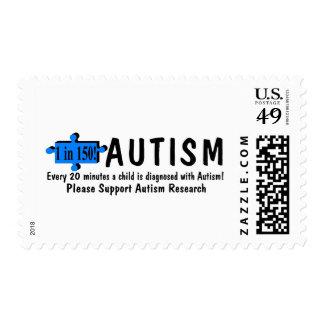 Autismo uno cada 20 minutos sello postal
