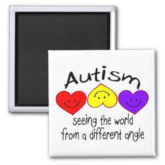 Autismo, viendo el mundo de un diverso ángulo imán cuadrado