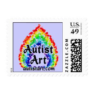 Autist Art stamps