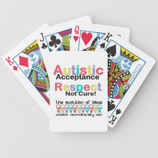 Autistic Acceptance Respect Not Cure Bicycle Playing Cards