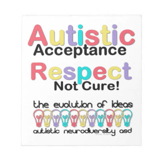 Autistic Acceptance Respect Not Cure Notepad