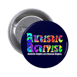 Autistic Activist (Color) Buttons