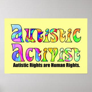Autistic Activist (Color) Poster