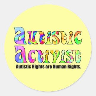 Autistic Activist (Color) Stickers