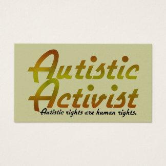Autistic Activist (Gold) Activist Cards