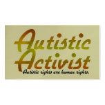 Autistic Activist (Gold) Activist Cards Business Cards