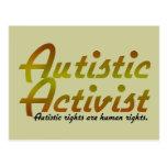 Autistic Activist (Gold) Postcards