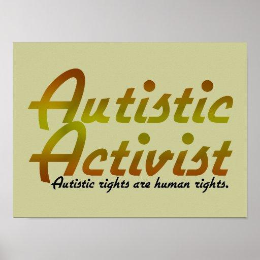 Autistic Activist (Gold) Poster