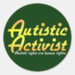 Autistic Activist(Gold) Stickers