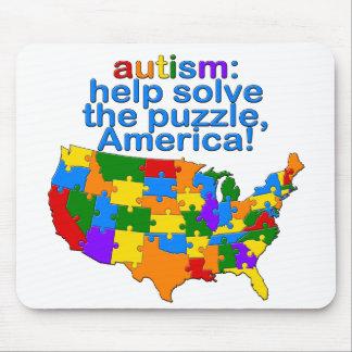 Autistic America Mouse Pad