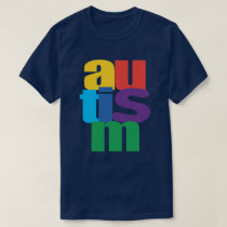 Autistic Awareness Autism Spell Out T-Shirt
