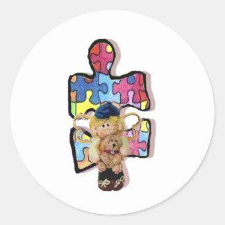 Autistic Boy Angel With Puppy Sticker