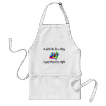Autistic By Day Super Hero By Night Adult Apron