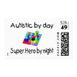 Autistic By Day Super Hero By Night Postage Stamps