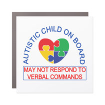 Autistic Child Onboard Car Magnet