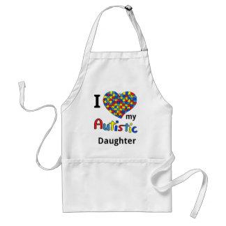 Autistic Daughter Adult Apron