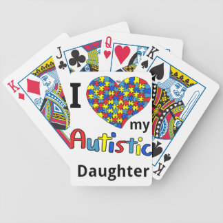Autistic Daughter Bicycle Playing Cards
