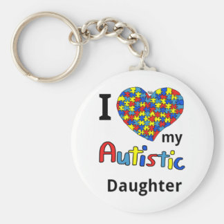 Autistic Daughter Keychain
