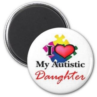 autistic daughter fridge magnet