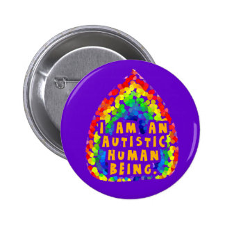 Autistic Human Being Buttons