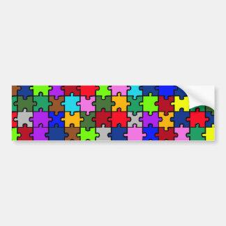 Autistic Jigsaw Bumper Sticker