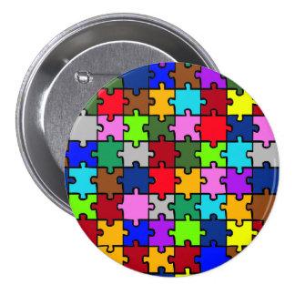 Autistic jigsaw pinback button