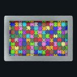 "Autistic Jigsaw Rectangular Belt Buckle<br><div class=""desc"">Autistic Jigsaw design,  very colorful and very trendy.</div>"