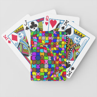 Autistic Jigsaw Warp Bicycle Playing Cards