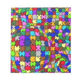 Autistic Jigsaw Warp Notepad