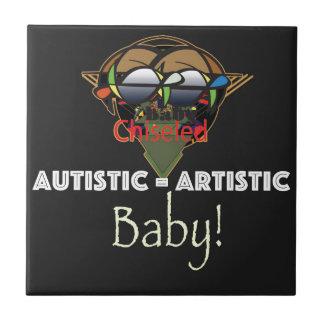 Autistic.jpg Azulejo Cuadrado Pequeño