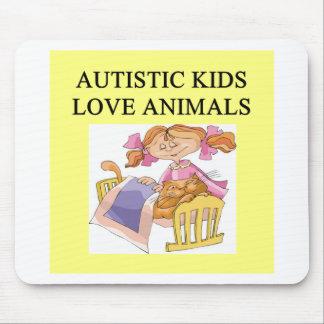 autistic kids kove animals mouse pad