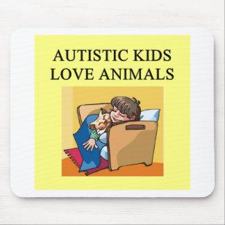 autistic kids love animals mouse pad