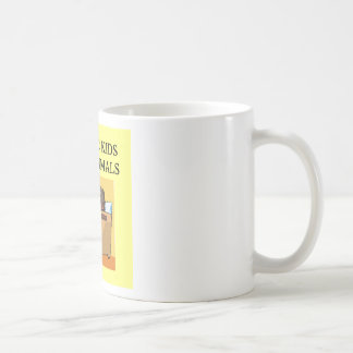 autistic kids love animals classic white coffee mug