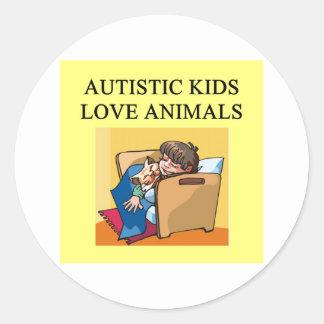autistic kids love animals stickers