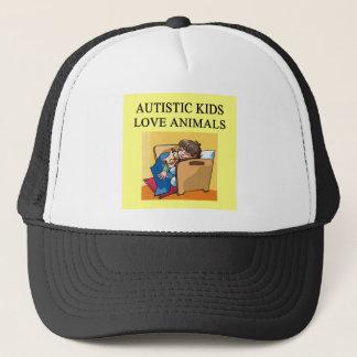 autistic kids love animals trucker hat