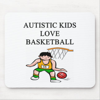 autistic kids love basketball mouse pad