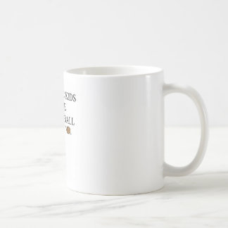 autistic kids love basketball classic white coffee mug